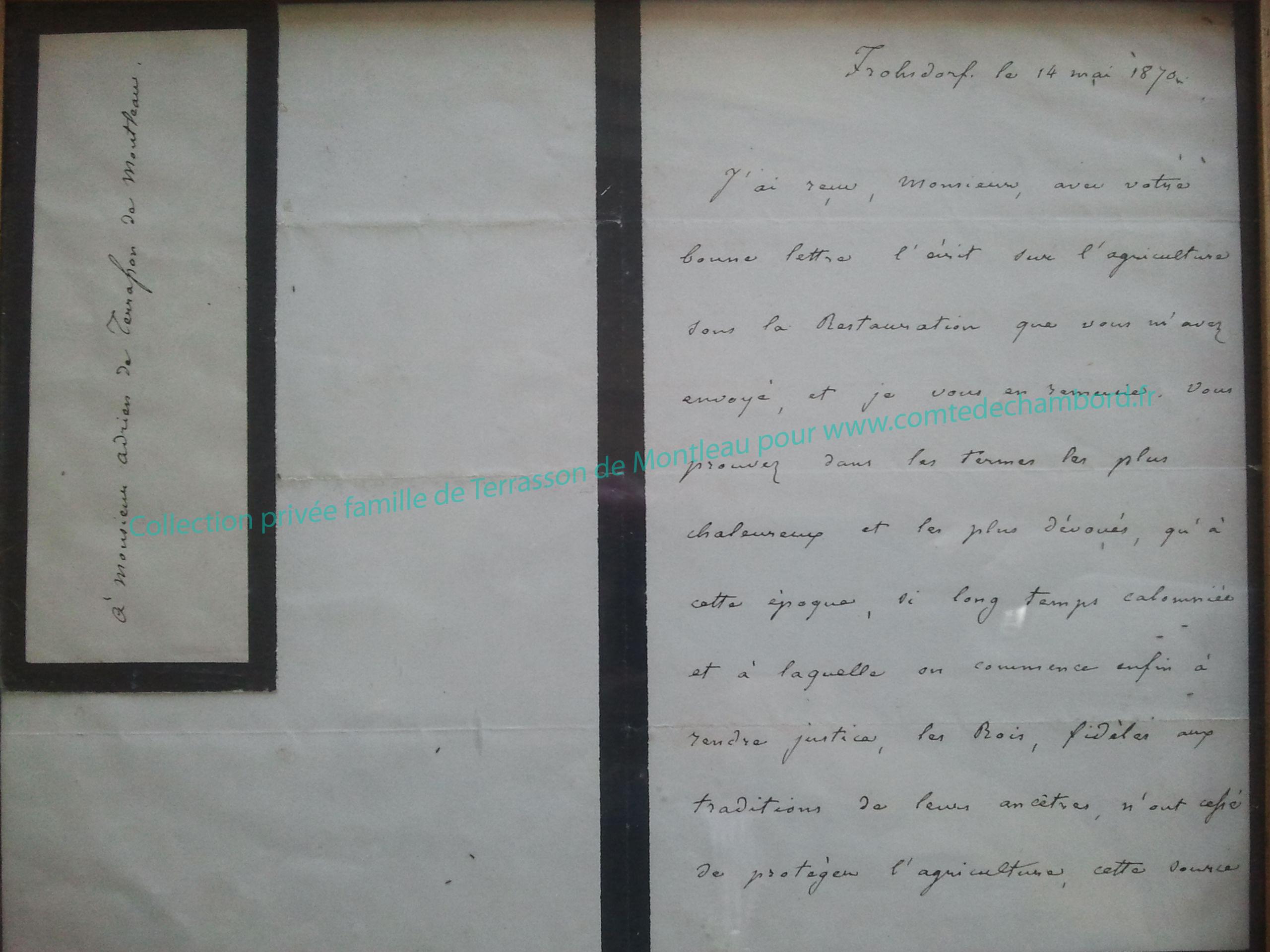 Lettre de 1870, partie 1