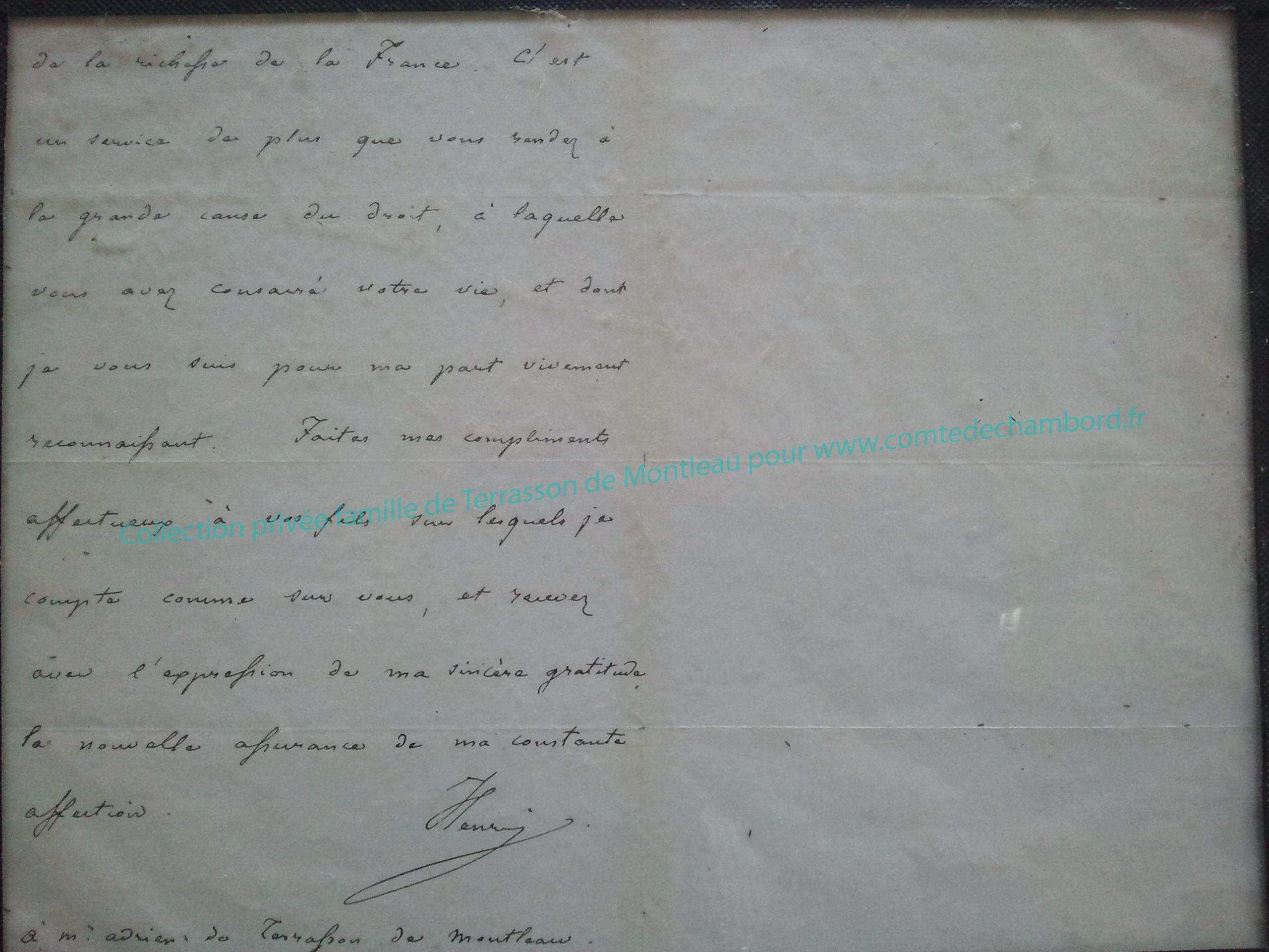 Lettre de 1858, partie 2