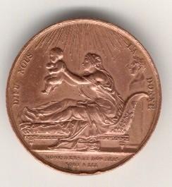 Comte de Chambord, medaille de naissance, avers