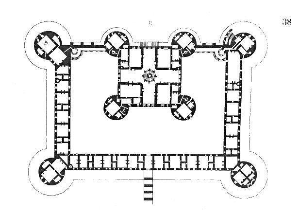 Comte de Chambord : plan du chateau